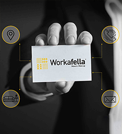 Virtual office space in Workafella business center