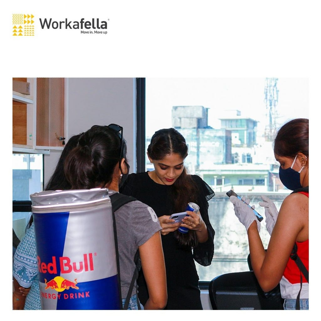 Red Bull team within our office community_3